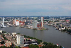 Rotterdam aérea Imagen de archivo
