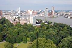Rotterdam aérien Photos libres de droits