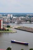 Rotterdam aerea Fotografia Stock