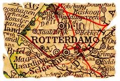 Rotterdam-alte Karte stockfoto
