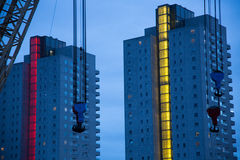 Rotterdam. Apartment buildings at harbor in Rotterdam Royalty Free Stock Image