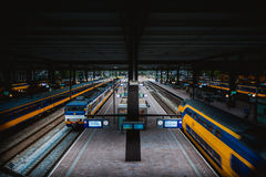 Rotterdam-Bahnstation stockfotos