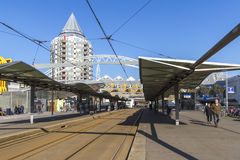Rotterdam Blaak train station Royalty Free Stock Photography