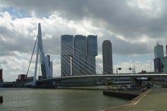 Rotterdam. Buildings and bridge  along the nieuwe maas river in rotterdam Stock Photo