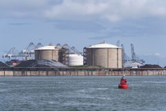 Rotterdam bulk terminal Royalty Free Stock Photo
