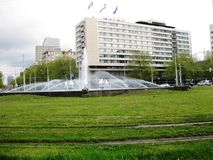 Rotterdam City Centre. Rotterdam City Center in summer. The Netherlands Royalty Free Stock Photo