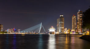 Rotterdam City centre. Cruise ship in Rotterdam City Center stock image