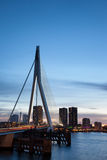 Rotterdam City at Dusk Stock Images