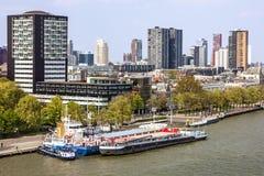 Rotterdam city, Netherlands, sea port Royalty Free Stock Image