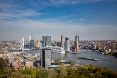 The skyline from Rotterdam royalty free stock images