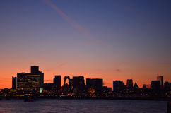 Rotterdam city skyline Royalty Free Stock Photography
