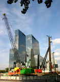 Skyline of the city of Rotterdam. City of rotterdam, the netherlands, under construction royalty free stock photos