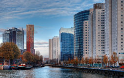 Rotterdam Cityscape Arkivfoto