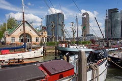 Rotterdam Cityscape Arkivbilder