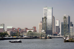 Rotterdam cityscape south bank Stock Photos