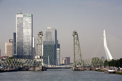 Rotterdam cityscape south bank Royalty Free Stock Photo
