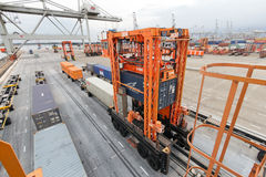 Rotterdam container terminal Royalty Free Stock Images