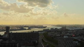 Rotterdam-Dämmerung Panorma stock video