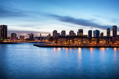 Rotterdam an der Dämmerung Lizenzfreie Stockfotografie