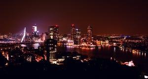 Rotterdam di notte Fotografia Stock