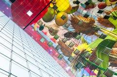 ROTTERDAM, DIE NIEDERLANDE - 9. MAI 2015: Der neue Markt Hall stockfoto