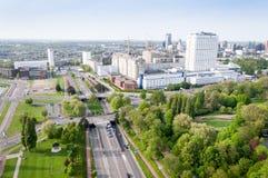 ROTTERDAM, die NIEDERLANDE - 10. Mai: Stadtbild vom Euromast-Turm in Rotterdam, die Niederlande am 10. Mai 2015 Lizenzfreies Stockbild