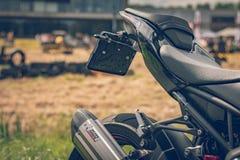 ROTTERDAM, DIE NIEDERLANDE - 2. SEPTEMBER 2018: Motorräder sind shini stockfoto