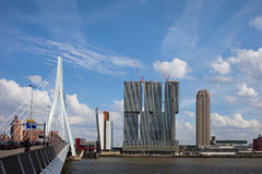 Rotterdam Downtown Skyline Royalty Free Stock Images