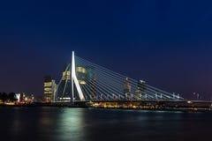 Rotterdam Erasmus Bridge Stock Foto's