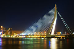 Rotterdam with Erasmus Bridge Royalty Free Stock Photos