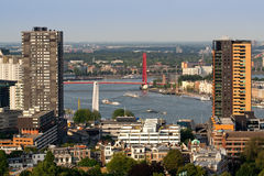 Rotterdam et fleuve Maas Photographie stock