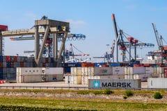 Rotterdam för behållareterminal hamn arkivbilder