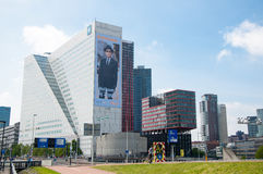ROTTERDAM, Famous business buildings - Willems Wert, opposite Erasmus bridge on 10 May, 2015. Stock Photo