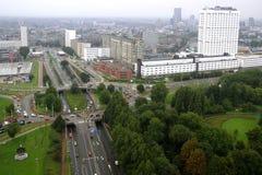 Rotterdam från TVtornet Arkivfoton