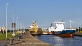 Rotterdam-Hafen Stockfotos