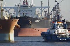 Rotterdam-Hafen, die Niederlande Stockfotos