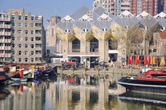Rotterdam-Hafen, die Niederlande Lizenzfreie Stockfotos