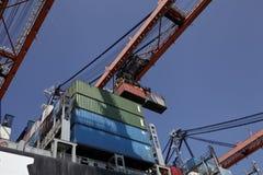 Rotterdam-Hafenschiff-zuuferkran Lizenzfreie Stockfotos