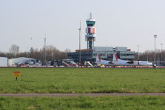 Rotterdam-The Hague Airport Stock Images