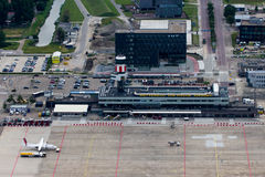 Rotterdam the Hague Airport. Located 3 NM north northwest of Rotterdam, is the Netherlands' third largest airport, coming after Amsterdam Airport Schiphol and Stock Image