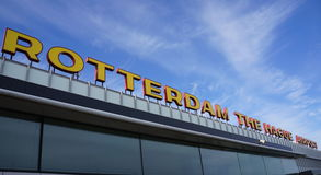 Rotterdam The Hague Airport Royalty Free Stock Image