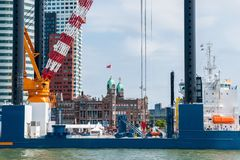 Rotterdam hamn Royaltyfri Bild