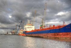Rotterdam Harbor Royalty Free Stock Photography