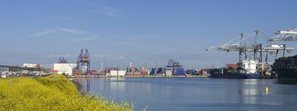 Rotterdam harbor royalty free stock image