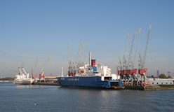 Rotterdam Harbor stock images