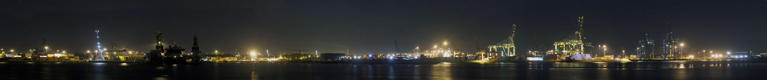 Rotterdam Harbor Panorama Royalty Free Stock Images