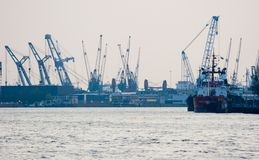 Rotterdam harbour and industry Stock Image