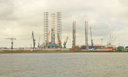 Rotterdam Harbour royalty free stock photo
