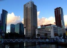 Rotterdam himmelsikt Arkivbild