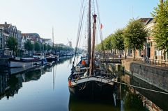 Rotterdam historic quarter Delfshaven Stock Photography